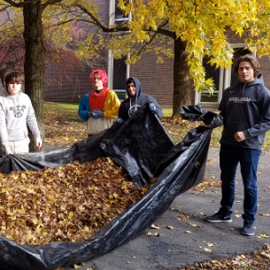 HHS Science Students Create Compost Pile
