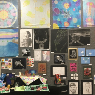HHS Student Artwork Featured in Arts Alive Exhibit at PSNK