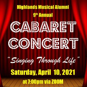HHS 9th Annual Cabaret Concert - April 10 via Zoom!