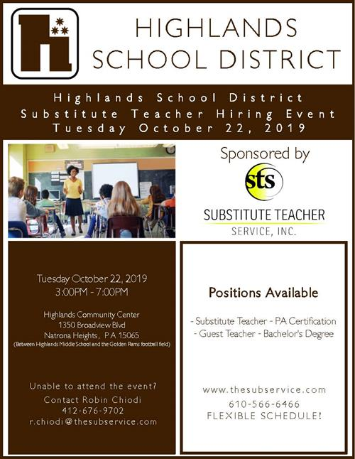 STS Hiring Event Flyer