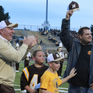 Undefeated Football Teams Recognized at Homecoming Game