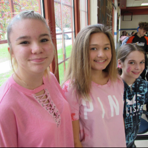 "PHOTOS: Middle School ""Pink Out"" Day"