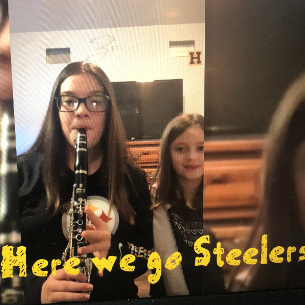Middle School Band Students Cheer on Steelers!