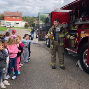 HECC Students Learn About Fire Prevention