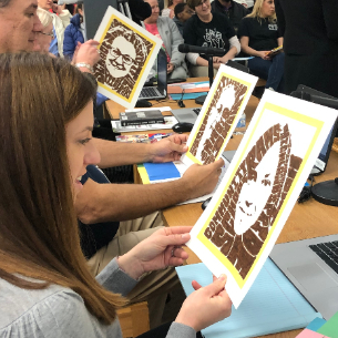 Students, Staff Honor School Board for Recognition Month