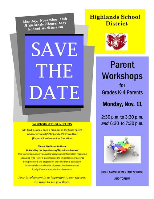 Parent Workshop Flyer
