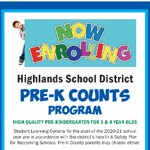 Pre-K Counts Program Has Openings for 2020-21