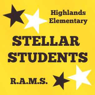 Highlands Elementary Stellar Students Announced