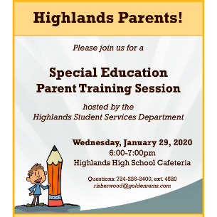 OPEN TO ALL PARENTS: Special Education Training Session