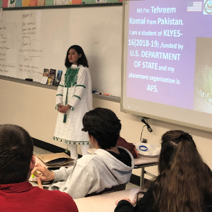 Highlands AFS Students Share Cultural Presentations During International Education Week