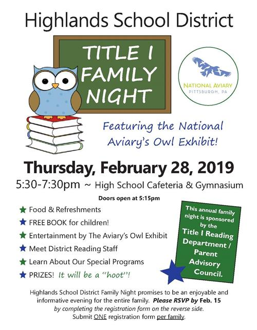 Join Us for Family Reading Night on Feb  28!