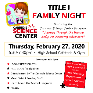 Join Us for Family Reading Night on Feb. 27!