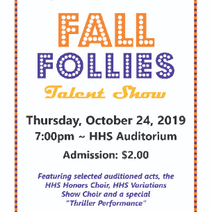HHS Students to Entertain at Annual Fall Follies Talent Show