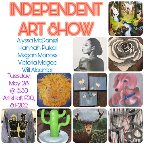 Independent Art Show Flyer