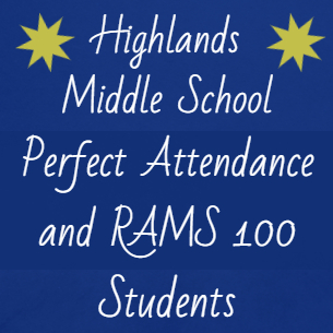 HMS Students Achieve Perfect Attendance, Earn RAMS 100