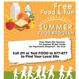 Free Meals for Children During Summer