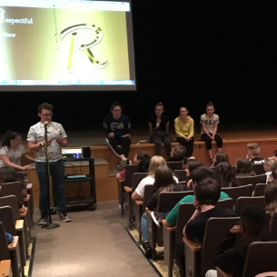 8th Graders Create Presentation for Students