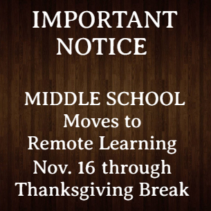 Highlands Middle School Moves to Remote Learning Starting Nov. 16 through Thanksgiving Break