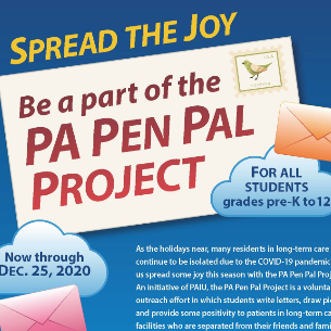 Spread Joy to Long-Term Care Facility Residents! Participate in the PA Pen Pal Project