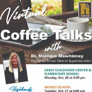 Middle School Virtual Coffee Talk with Superintendent - Oct. 27