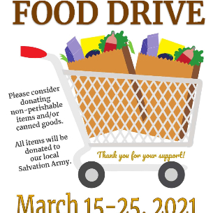 Support the District-wide Food Drive from March 15-25