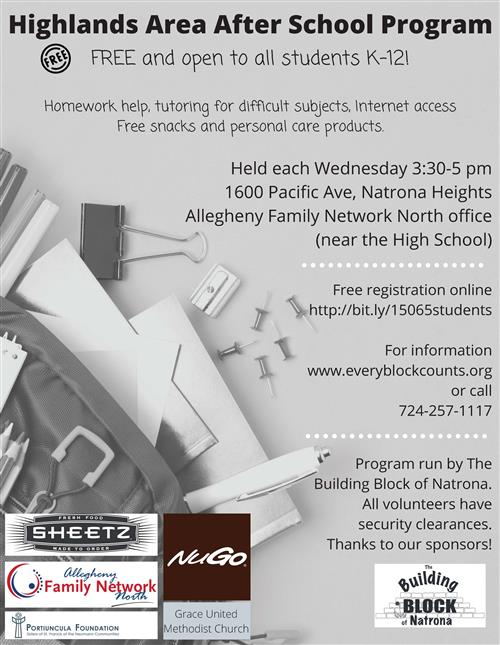 After School flyer