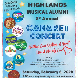 8th Annual Cabaret Concert Features Highlands Alumni, Celebrates Past Decade of HHS Musicals