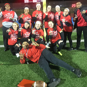 JUNIORS Win First Powder Puff Football Game